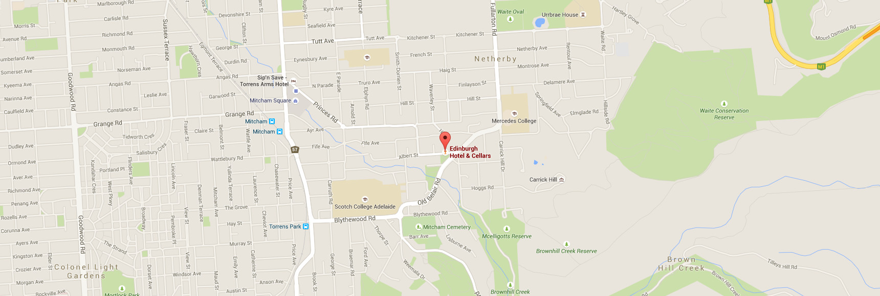 Map of location, 1-7 High Street, Mitcham, SA 5062 Australia